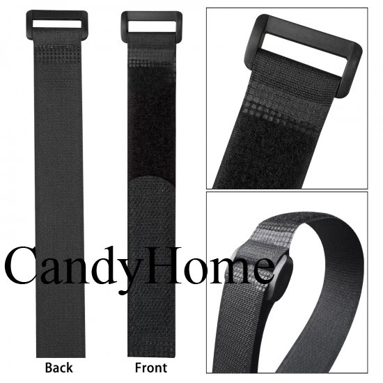 Adjustable CandyHome 20pcs Reusable Fastening Cable Straps and Cable Ties Set